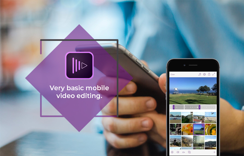 Screenshot ofAdobe Premiere Clip Video Editing App