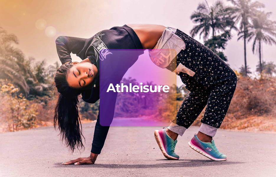 girl wearing athleisure