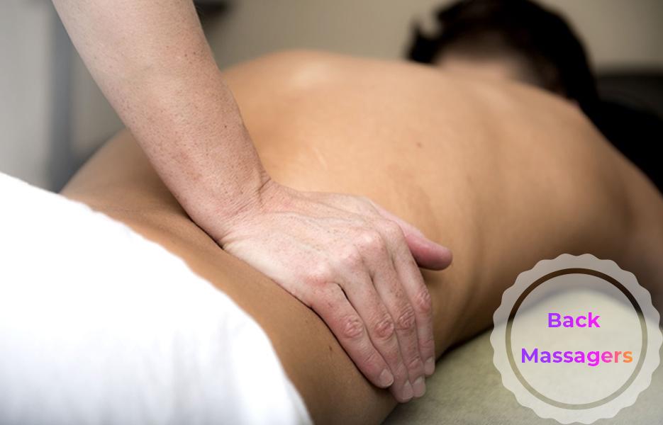Person having a back massage