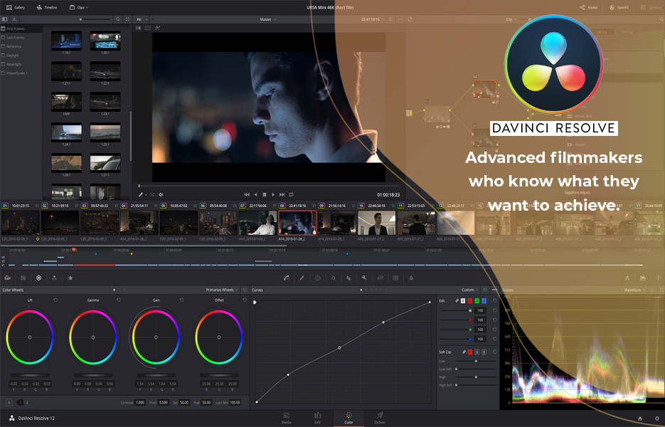 Screenshot of DaVinci Resolve Video Editing Software