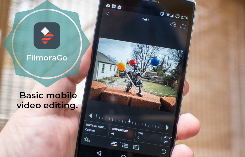 FilmoraGo app logo