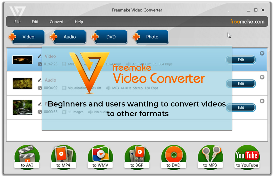 Freemake video convertor
