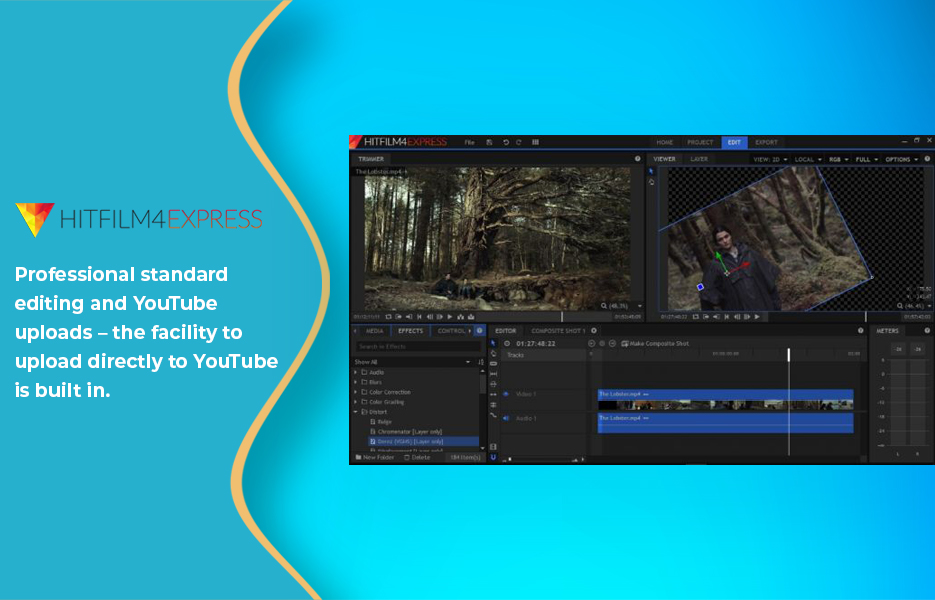 Screenshot of HitFilmVideo Editing Software