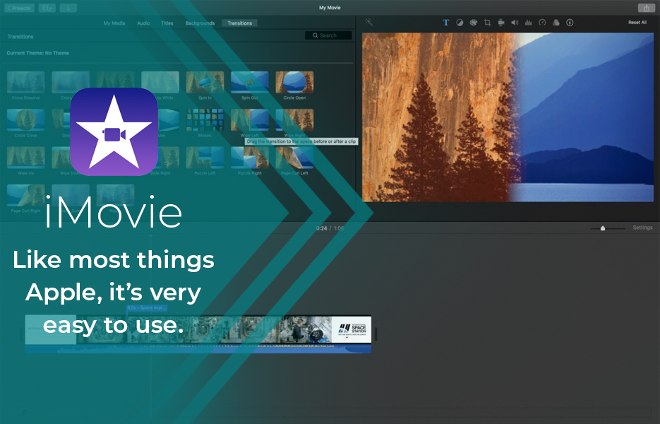 Screenshot of iMovieVideo Editing Software