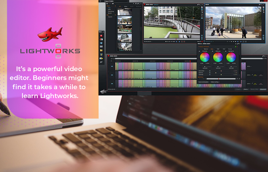 Screenshot of Lightworks Video Editing Software