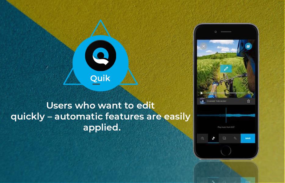 Screenshot ofQuik Video Editing App