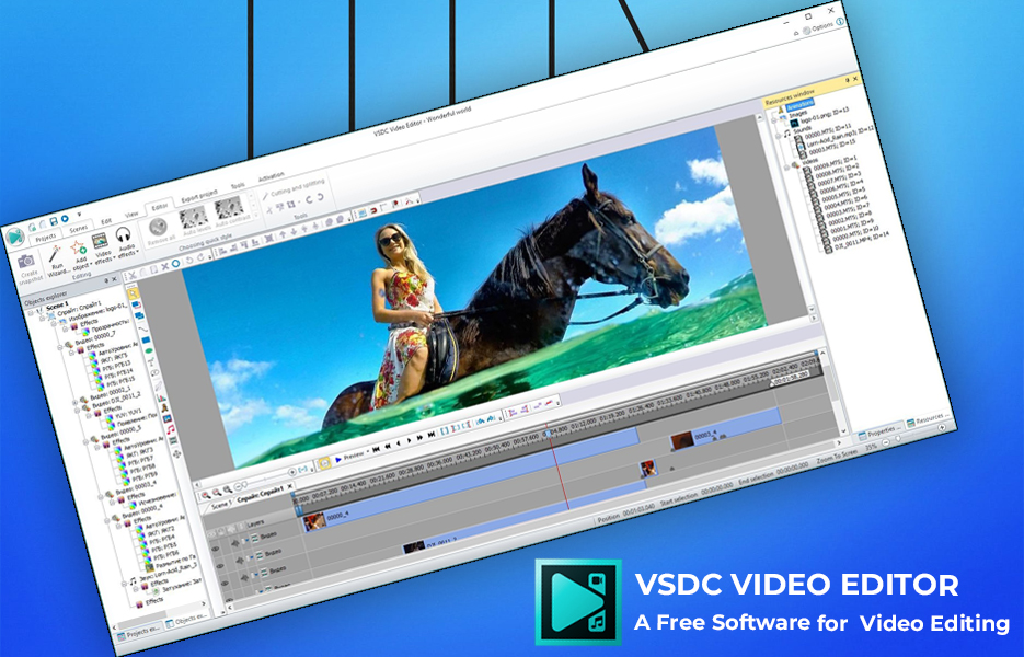 Screenshot of VSDC Video Editing Software