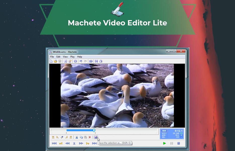 Screenshot of Machete Lite Video Editing Software