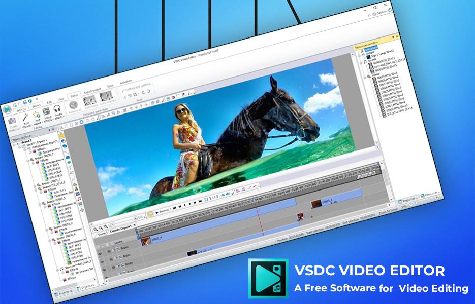 Screenshot of VSDC Video Editing Software