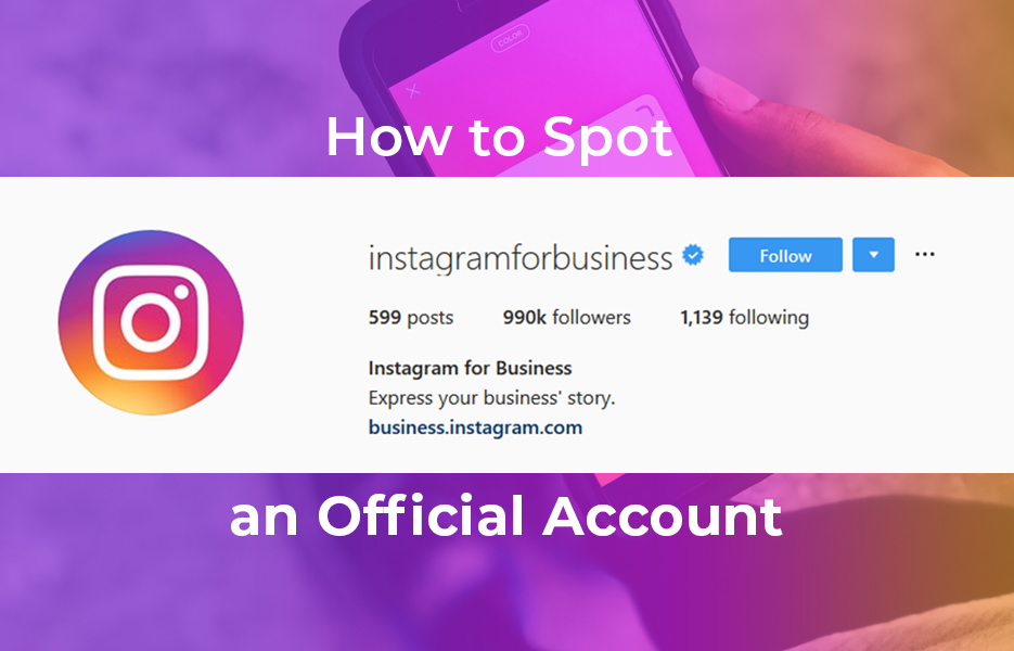 How to spot an official account