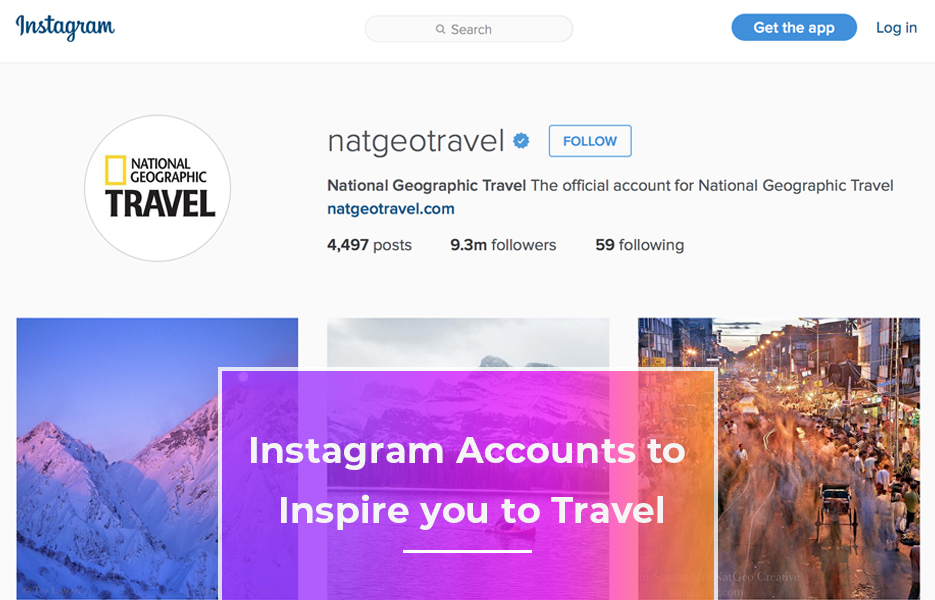 Instagram accounts to inspire you to travel