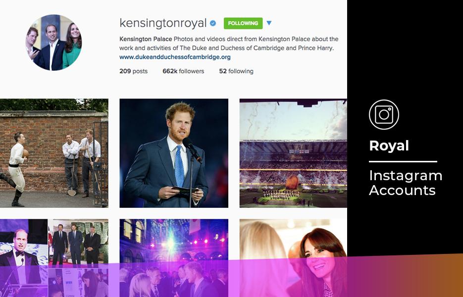 Royal Instagram accounts