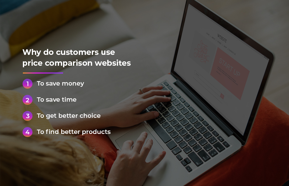 Why do customers use price comparison websites