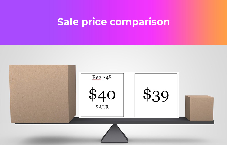 sale price comparison
