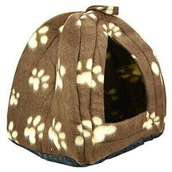 Cca New Dog Cat Warm Fleece Winter Bed Igloo House Soft Luxury Basket For Pets Mx 12215