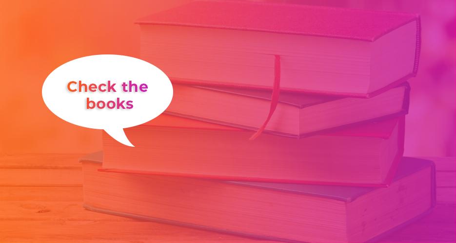 Check the books