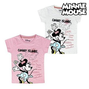 Child S Short Sleeve T Shirt Canary Islands Minnie Mouse 73489 Pink 3 Years