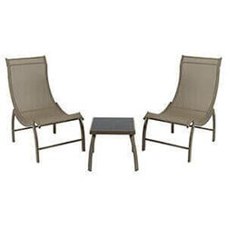 Garden Furniture 3 Pcs Aluminium