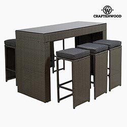 Garden Furniture Synthetic Rattan 150 X 70 X 104 Cm By Craftenwood