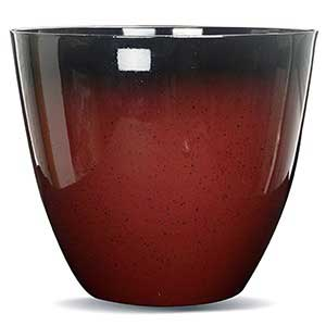 Gr8 Garden Large Round Glazed Effect Egg Cup Planter Patio Flower Plant Pot Tub Red