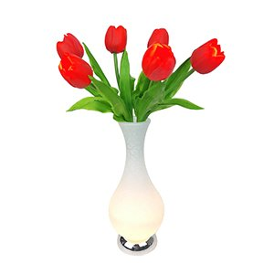 Led Tulip Flower Vase Table Lamp Light 60cm Home Decoration Gift Mothers Day Red