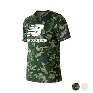 Men S Short Sleeve T Shirt New Balance Esse St Logo T M Green