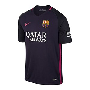 Men S Short Sleeved Football Shirt Nike Fc Barcelona Purple 2 Size Xl Us