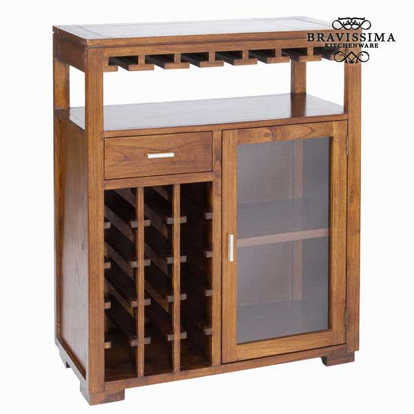 Outlet Furniture Bottle Rack Mindi Wood 110 X 90 X 40 Cm Serious Line Collection By Bravissima Kitchen No Packaging