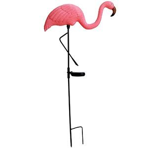 Pink Flamingo Bird Solar Powered Led Light Lamp Garden Outdoor Novelty Ornament