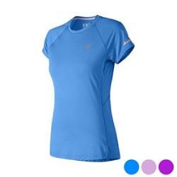 Short Sleeve Sports T Shirt New Balance Nb Ice 2 0 Lady Blue S