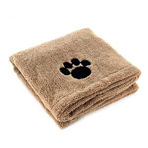 Super Absorbent Microfibre Pet Towel Puppy Cleaning Drying Blanket 90 X 60cm