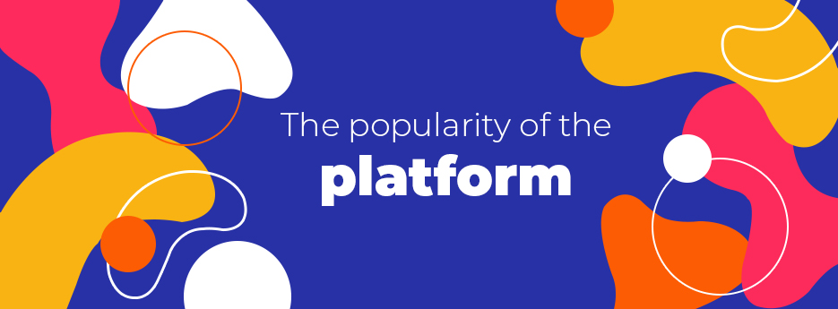 The popularity of the platform
