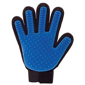 True Touch Five Finger Deshedding Pet Dog Silicone Glove Remove From Box For Large Letter