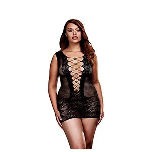 Ultra Corset Lace Up Cut Out Mini Dress Queen Size Baci Lingerie Bw3130
