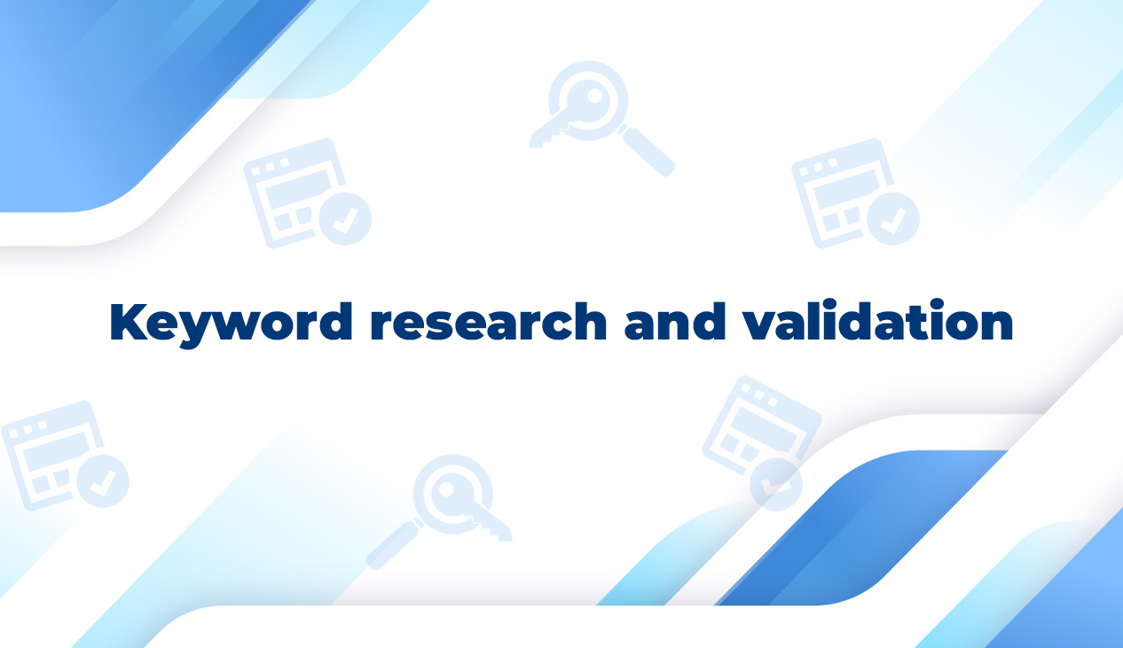 Keyword research and validation