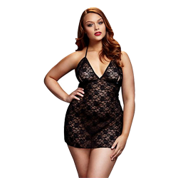 Black Lace Babydoll Queen Size Baci Lingerie BW3103