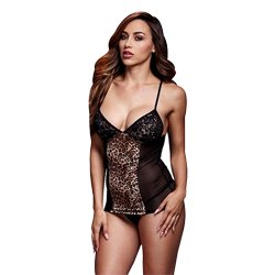 Leopard Basque & Garter Stays No Panty One Size Baci Lingerie BW3109-LEOOS