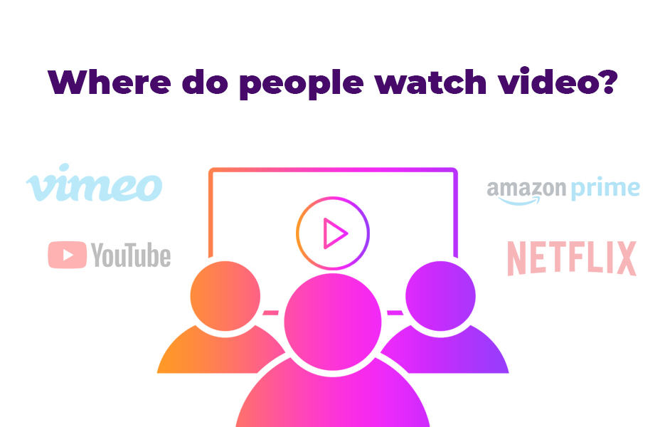 Where do people watch video?