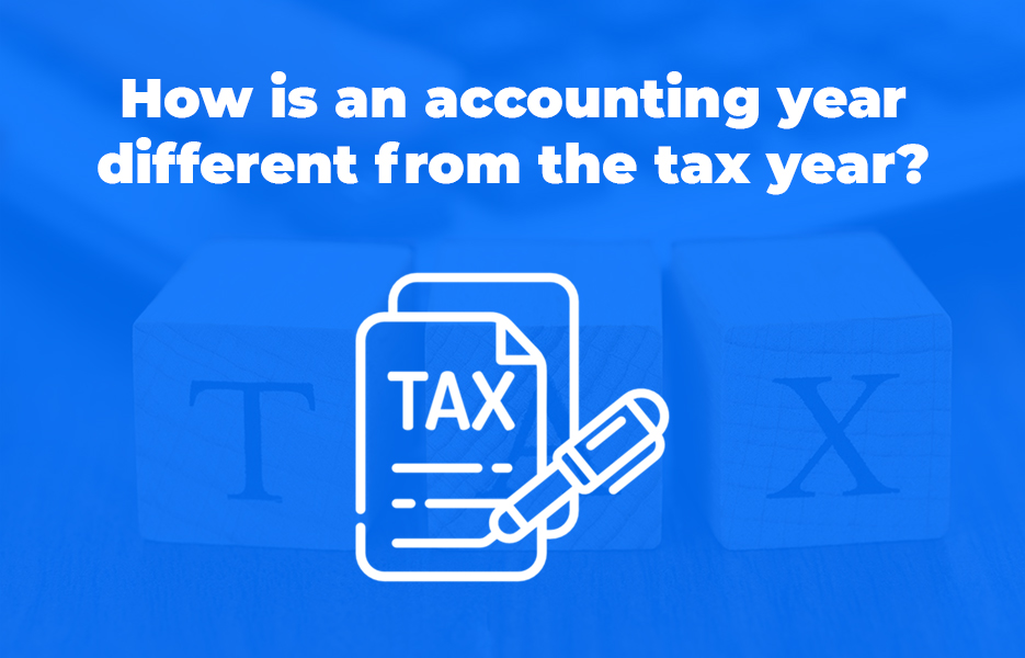 How is an accounting year different from the tax year