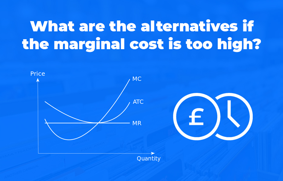What are the alternatives if the marginal cost is too high
