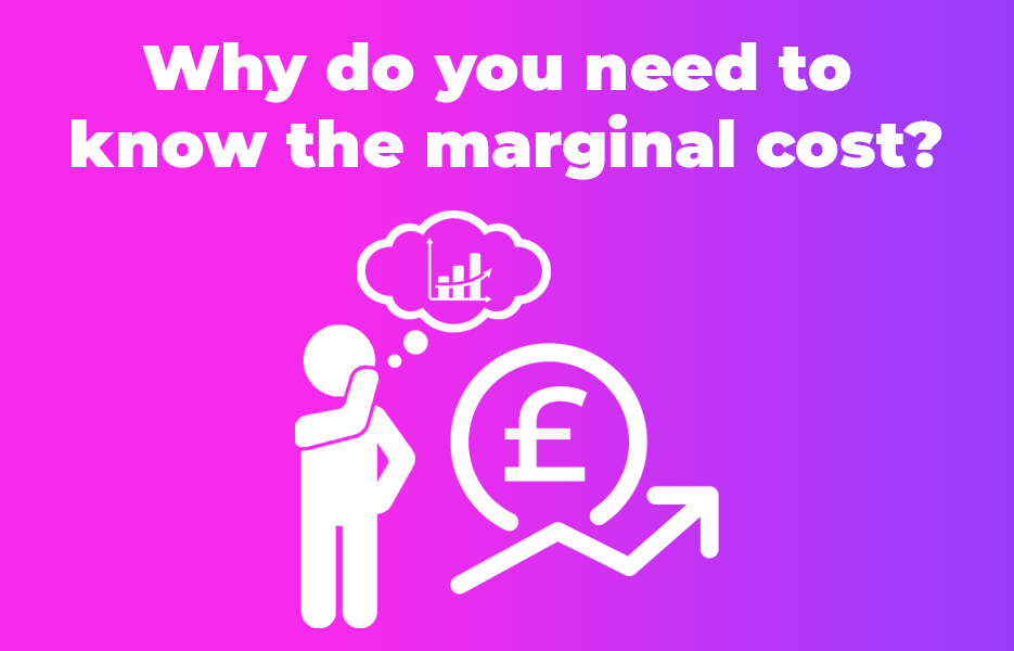 Why do you need to know the marginal cost