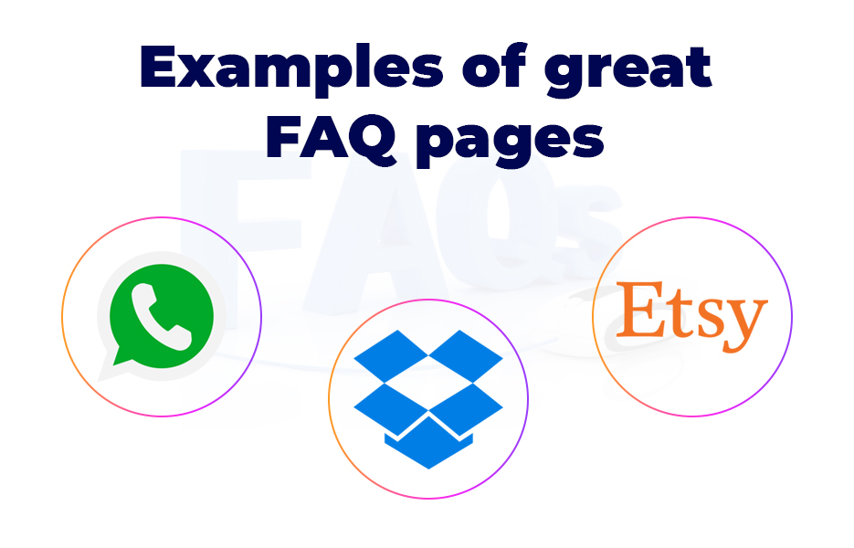 3 examples of great FAQ pages