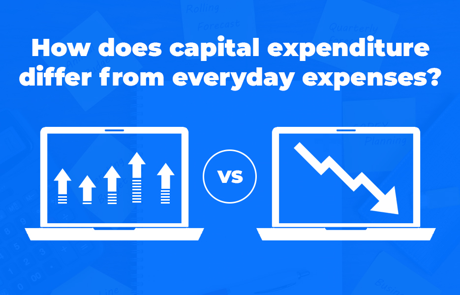 How does capital expenditure differ from everyday expenses